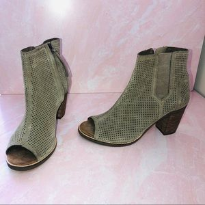 Toms suede perforated booties